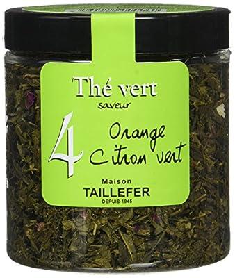 Maison Taillefer Thé Vert Orange Citron Vert Pot 70 g - Lot de 4