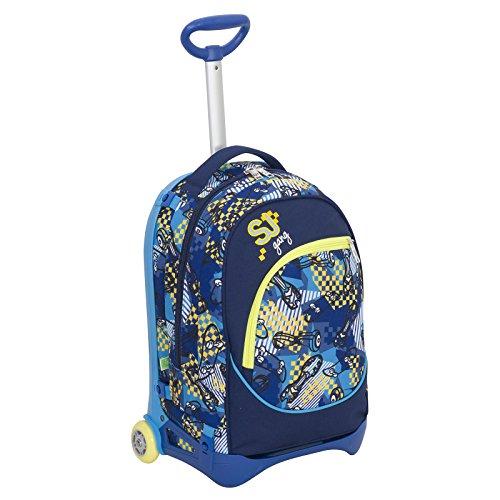 Trolley jack junior - sj gang - blu - 28 lt sganciabile e lavabile - scuola e viaggio