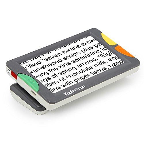 Digital Video Magnifier, 4.3 Zoll Handportable Mobile Elektronische Lesehilfe Leselupen für sehbehinderte, Senioren, Makuladegeneration, Menschen mit hoher Kurzsichtigkeit. (4.3LCD)