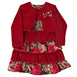 Dizzy Daisy Baby Girl's Party Dress Dress and Jacket for 3 - 4 Years Plum