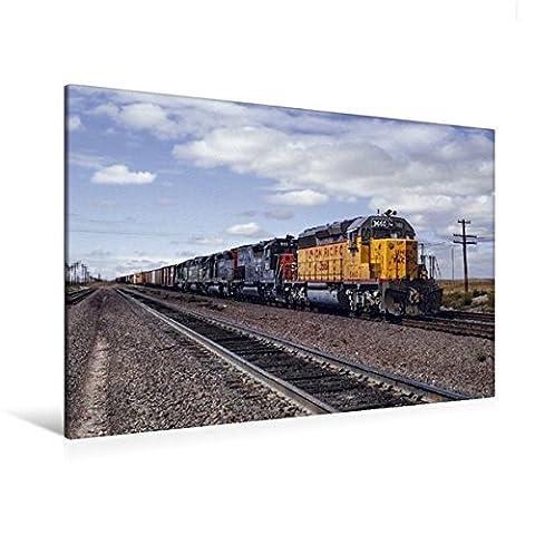 Premium Textil-Leinwand 120 cm x 80 cm quer, Union Pacific, Cheyenne, Wyoming, 1981 | Wandbild, Bild auf Keilrahmen, Fertigbild auf echter Leinwand, Leinwanddruck (CALVENDO Mobilitaet)