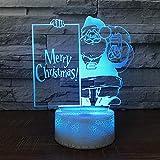 Kreative Santa 3d Kleine Nachtlichter Weihnachtsgeschenke Visuelle Lichter Neue Seltsame 3d Lampe Usb Led Leuchten