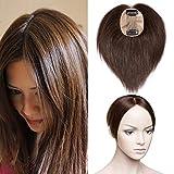 TESS Pony Haarteil Clip in Extensions Echthaar Toupee Haarverlängerung Lace Front Closure Toupet für Frauen 14