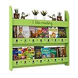 JANFA Ripiani Libreria A Muro Assemblaggio Fai da Te Motivo Floreale Traforato Portacarte Fumetto, 3 Misure (Colore : Verde, Dimensioni : 39.37 * 4.72 * 37.40in)