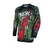 O'Neal Element Vandal Jersey Grün Rot MX MTB DH Trikot Motocross Offroad, 0028-60, Größe XL