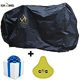 Housse de Protection Vélo/Cyclisme Couvre-Velo VTT Imperméable de qualité supérieure pour une protection parfaite - Pour 2 Vélos - Résistante à l'eau, résistante à l'eau 210D Oxford Material, Extra Large