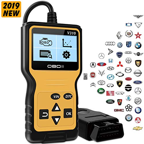 kungfuren OBD2 Diagnosegerät, OBD2 für Autos ab 1996 mit OBD2 EOBD CAN Modi KFZ Motor Fehlercodeleser Lesen und Lschen Fehlercode 16-Pin OBDII-Schnittstelle DTC Handscanner