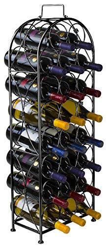 Hersbrucker® Wein Rack Ständer Bordeaux Chateau Stil-Für 23Flaschen Ihren lieblingswein-Elegantes Aussehen im französischen Stil Wein Rack zu jeden Raum-kein Zusammenbau erforderlich - Französisch Wein Rack