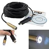 Hengda® 15M LED USB 2,0 Endoskop Kanalkamera wasserdicht Rohrkamera Kamera Inspektionskamera