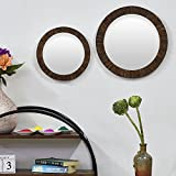 Casa Decor Combo Of 2 Barques Tree Shell Wall Hanging Wooden Wall Decor Round Shape For Living Room, Dessing Room, Bedroom, Kids Room
