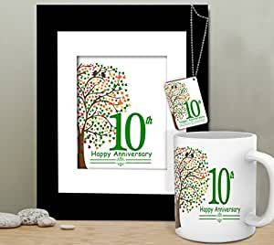 TIEDRIBBONS-10th Anniversary Gift for Husband Anniversary Gift for Him Gift Combo Gift Combo for Man Gift for Anniversary Anniversary Gift for Brother Anniversary Gift for Sister