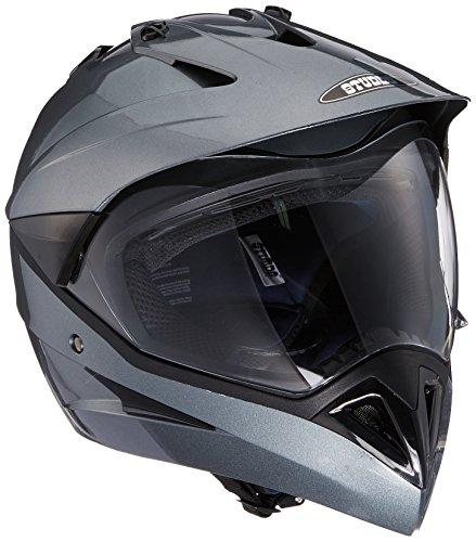 Studds Motocross Helmet with Visor (Gun Grey, M)