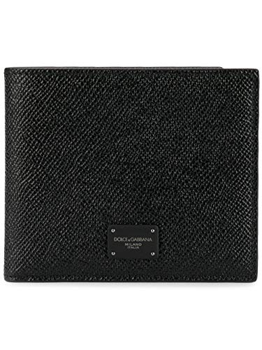 DOLCE E GABBANA Herren Bp1321az60280999 Schwarz Leder Brieftaschen