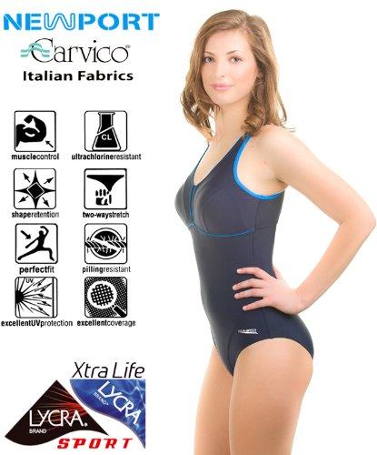 AQUA-SPEED Damen Badeanzug - Wettkampfanzug Schwimmanzug - Chlorresistente - Aus Hochwertigem Material - LYCRA Xtra Life, #AsMATYLDA Blau