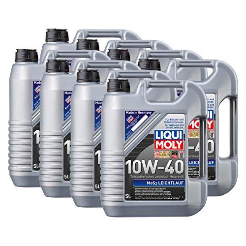 Preisvergleich Produktbild 8x LIQUI MOLY 1092 MoS2 Leichtlauf 10W-40 Motoröl 5L