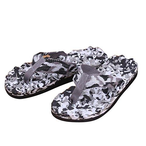 Rcool Männer Sommer Tarnung Flip Flops Schuhe Sandalen Slipper indoor & outdoor (43, Schwarz)