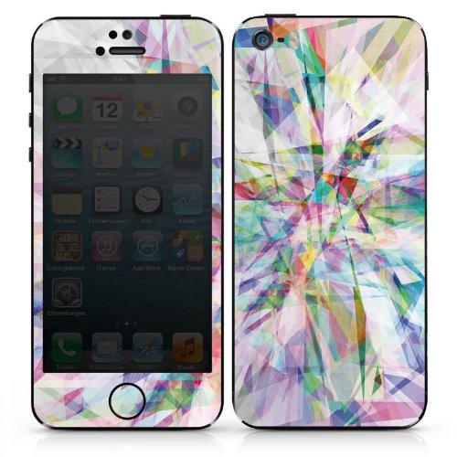 Apple iPhone SE Case Skin Sticker aus Vinyl-Folie Aufkleber Kristall Prisma Regenbogen DesignSkins® glänzend