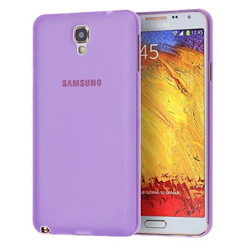 doupi UltraSlim Custodia per Samsung Galaxy Note 3 Neo, satinato fine piuma facile mat semi trasparente Cover, Purple