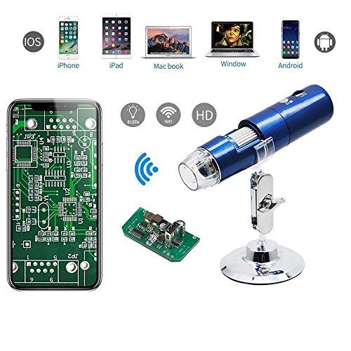 teepao Digitales USB Mikroskop 1000x 8LED Handheld WiFi Mikroskop HD 1080P Endoskop-Kamera mit...