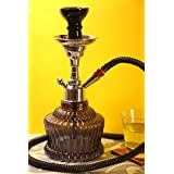 "Craftbell Glass Maharaja Hookah Pot For Home Decor -12""(Black)"