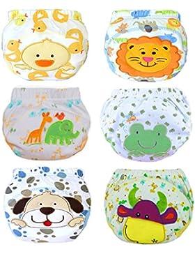JT-Amigo 6er Pack Baby Jungen Lernwindel Trainerhosen Unterwäsche zum Sauberwerden