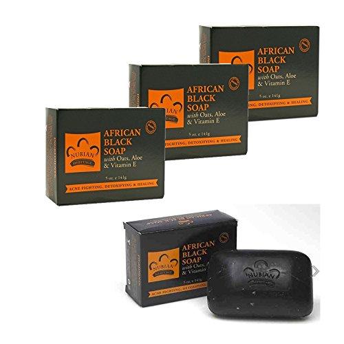 Afrikanische Schwarze Seife, 150gr / 3er PACK by TARGARIAN