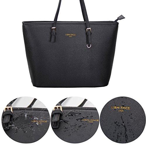 LI&HI Damen fashion elegant Leder Beutel shopper bag Umhängetaschen Schulterbeutel Abendtaschen Clutch - 6