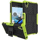 Für Sony Xperia X Performance / X Performance Dual (5 Zoll) Hülle ZeWoo® Heavy Duty Case Cover Outdoor Sport Tasche Shockproof Schutzhülle Gürtel-Clip Ständer - HH006 / Grün
