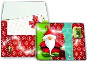 Clairefontaine Lettre au Père Noel Pochette Correspondance 5 Feuilles A5 + 5 Enveloppes C6