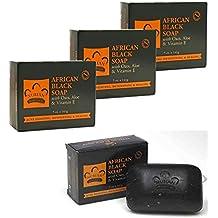 Jabón negro africano, 150 gr / PAQUETE de 3 by DURSHANI