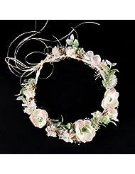 Olici MDRW-Tocado Nupcial De La Horquilla del Salón De Bodas Flores Blancas Guirnaldas Vestidos