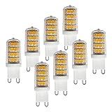MÜLLER-LICHT 8er-Set LED Lampe Hochvolt-Stiftsockel ersetzt 29 W, Plastik, G9, 3 W, Weiß, 1.7 x 1.7 x 4.9 cm, 8 Einheiten