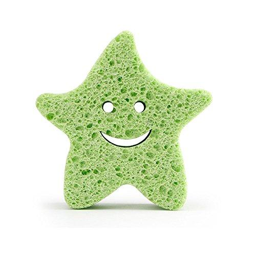Weiche Bade Schwamm Pinsel Baby Kind Spielen Spielzeug Erwachsene Dusche Massagebürste Niedlichen Pentagramm Form Grün