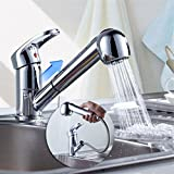 Grifo monomando cascada extensible fregadero alcachofa lavabo Pr sala baño cocina