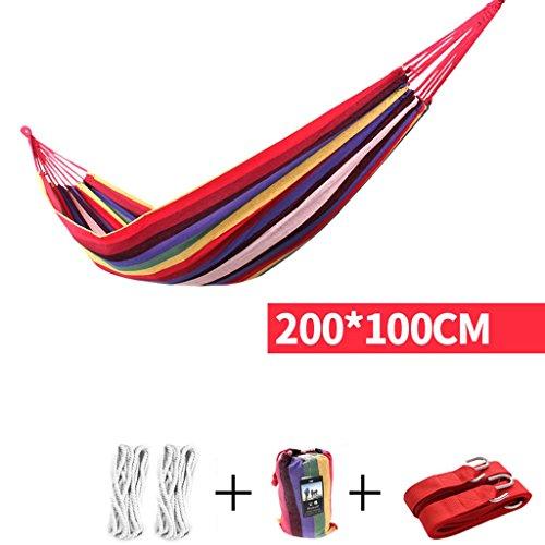 MMM& Outdoor Indoor Canvas Dicker Schlafzimmer Dorm Room Kind Swing Field Mesh Hängematte ( Farbe : Rot , größe : 200*100cm )