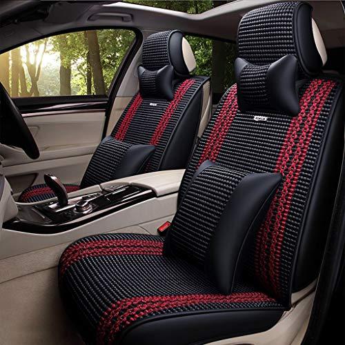 Autositzbezug Beschützer Breathable Ice Silk Auto-Sitzbezüge Multi-coloAirbag Kompatibel Auto Sitzkissen RetractablePads Einteiliger Protector Universal für die meisten Autos LKW Suv oder Van Full Set