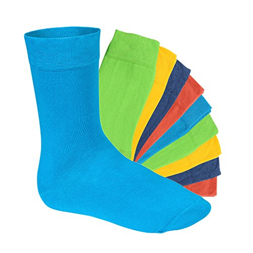 Footstar 10 Paar EVERYDAY! Unisex Socken Trendfarben - 39-42