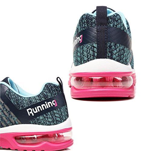 TORISKY Herren Damen Sneakers Sportschuhe Atmungsaktives Leichtes Turnschuhe Air Profilsohle Schuhe Pink