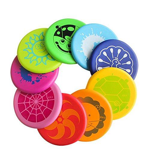 Fuhaoo Frisbees Frisbeescheiben Kinder weiche Scheibe UFO Kinder Outdoor-Sport Spielzeug Kindergarten Park Sport Spiel Farbe zufällig 1 pc