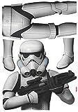 Komar - Star Wars - Deco-Sticker STORMTROOPER - 100 x 70 cm - Wandtattoo, Wandbild, Sturmtruppler, Imperium - 14722h