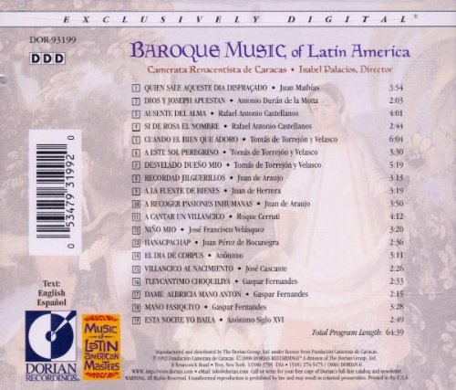 Musique baroque d'Amérique latine (1660-1805)