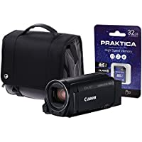 Canon Legria HF R88 Camcorder Kit with Wide Angle Adapter/32 GB Card and Case - Black