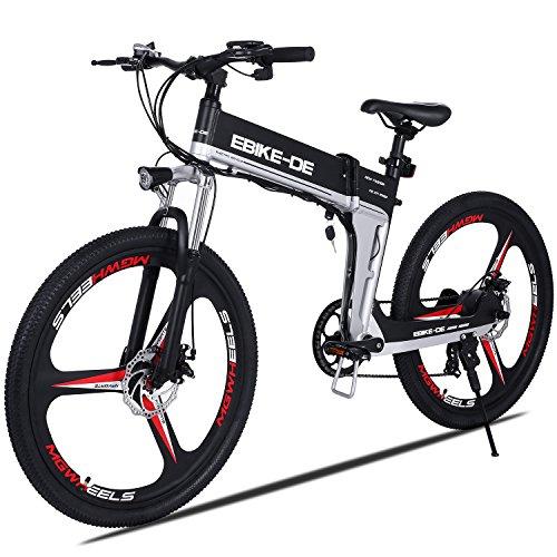 "Buyi-World Elektrofahrrad, High Speed 28km/ h, Mountainbike E-Bike 26\"" Zoll, 250W, Batterie 36V 8Ah, EU & UK Stecker, Schwarz"