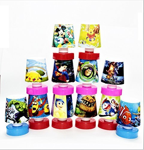 Shopkooky Cartoon Printed LED Night Lamps Perfect for Your Kids Room / Return Gift / Birthday Gifts Online - Pack of 12