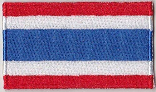 Flaggen Aufnäher Patch Thailand Fahne Flagge - 6 x 3.5 cm