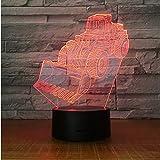 Personalisierte Tischlampe Farbe des kreativen Geschenks Farbe, die buntes Licht der Nacht 3d ändert