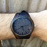 Das dunkle Ebenholz Echtholz Uhr, graviert Holz Uhr, Geschenk für ihn, männer Holz Uhr