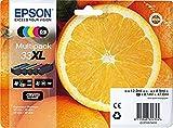 Epson C13T33574011 Original Tintenpatronen XL (Multipack of 5) CMYK + foto schwarz