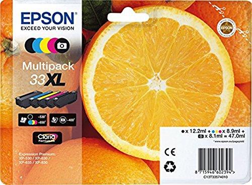 Epson C13T33574011 Inchiostro, Multicolore, con Amazon Dash Replenishment Ready, 5 Pezzi