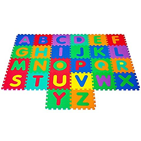 26pc x Large Foam 32cm Soft EVA Baby Childrens Kids Play Mat Alphabet Puzzle A-Z.